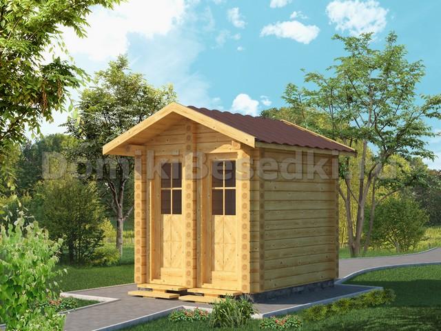 Хозблок с туалетом на даче своими руками